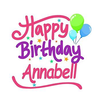 Happy Birthday Annabell by PM-Names