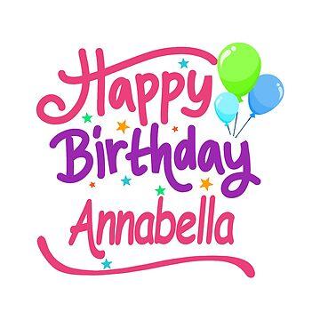 Happy Birthday Annabella by PM-Names