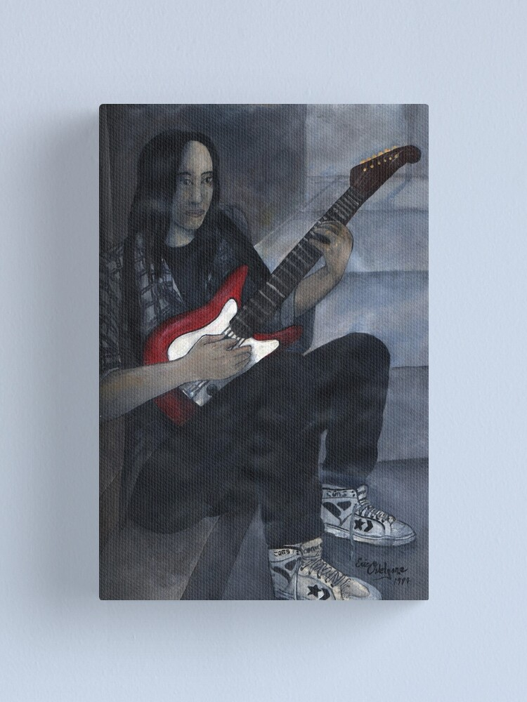 Alternate view of Red Guitar Canvas Print