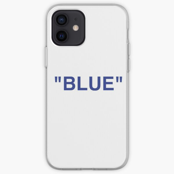 """BLUE"" Off white x Ikea de Virgil Abloh Funda blanda para iPhone"