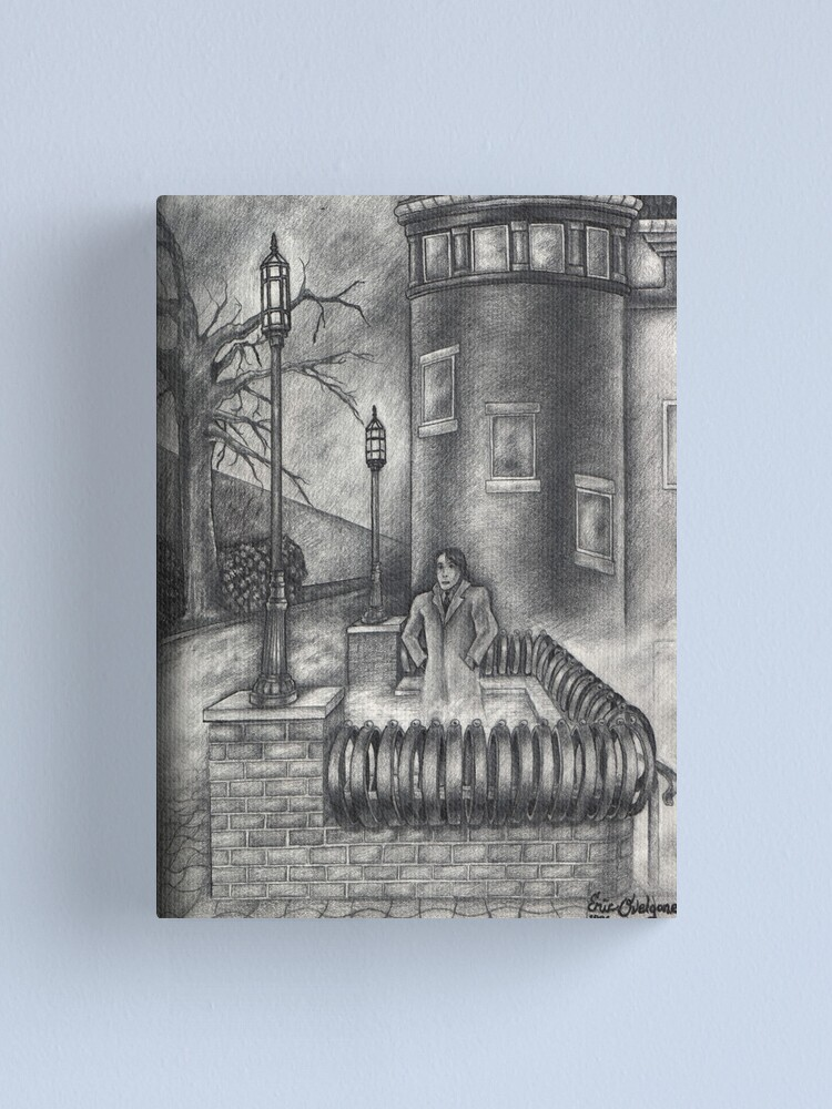 Alternate view of Waiting in the Fog Canvas Print