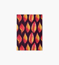 Vibrant autumn leaves pattern in red and yellow Art Board