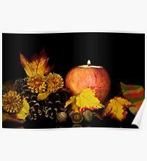 Apple Autumn Ambiance Poster