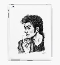 "The Doctor - David Tennant - ""Fingers on Lips!"" iPad Case/Skin"