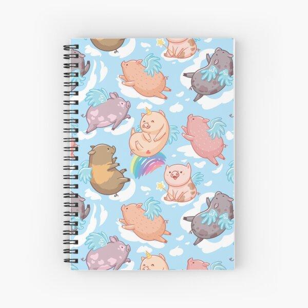 Unipiggy with friends  Spiral Notebook