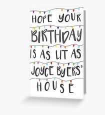 Lit Birthday Card 2 (revised and better than ever) Greeting Card