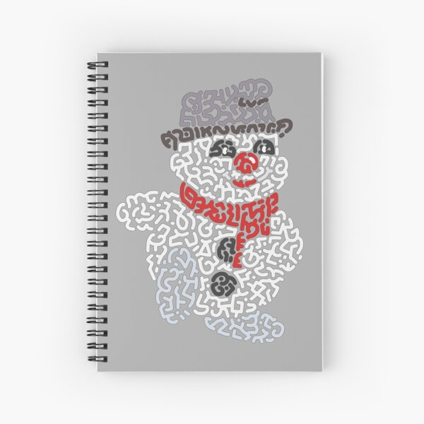 """""""Bouli"""" the Snowman Spiral Notebook"""