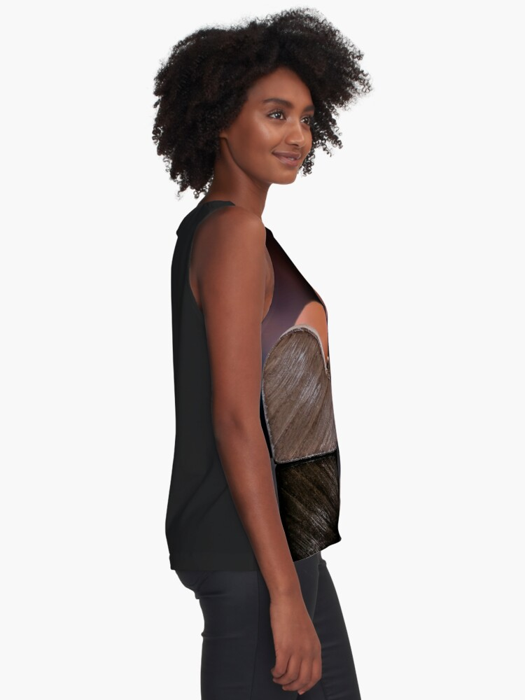 Alternate view of Love heart reflections  Sleeveless Top