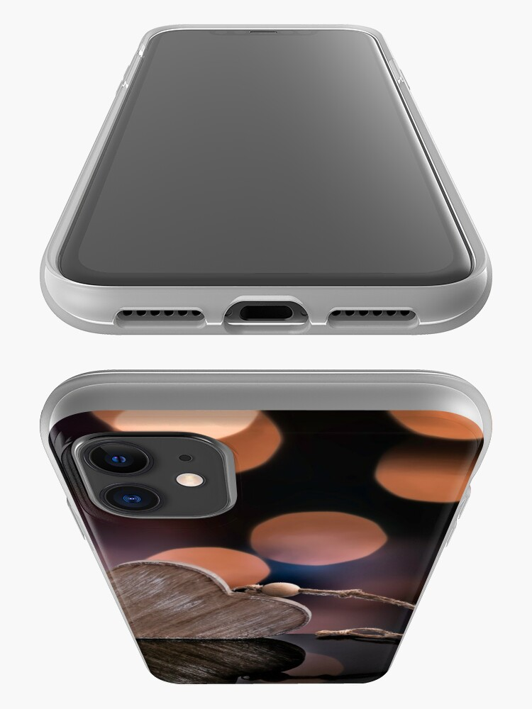 Alternate view of Love heart reflections  iPhone Case & Cover