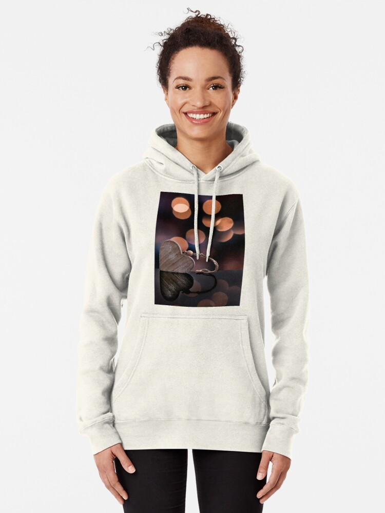 Alternate view of Love heart reflections  Pullover Hoodie