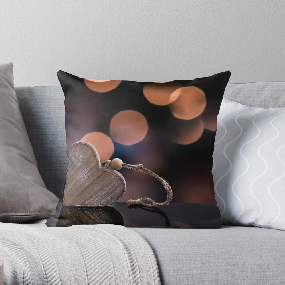 Love heart reflections  Throw Pillow