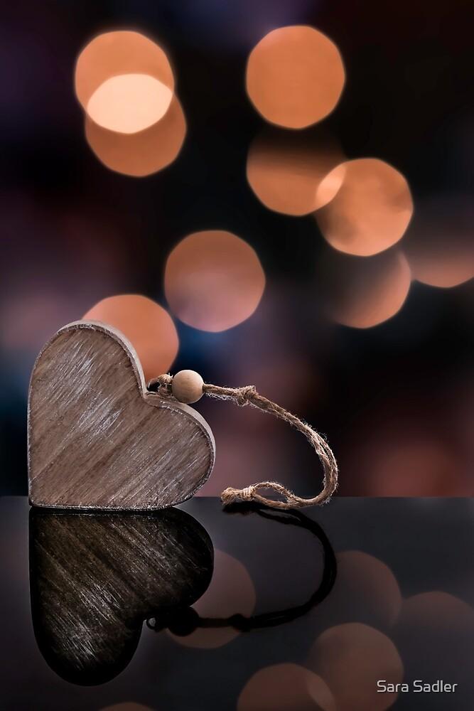Love heart reflections  by Sara Sadler