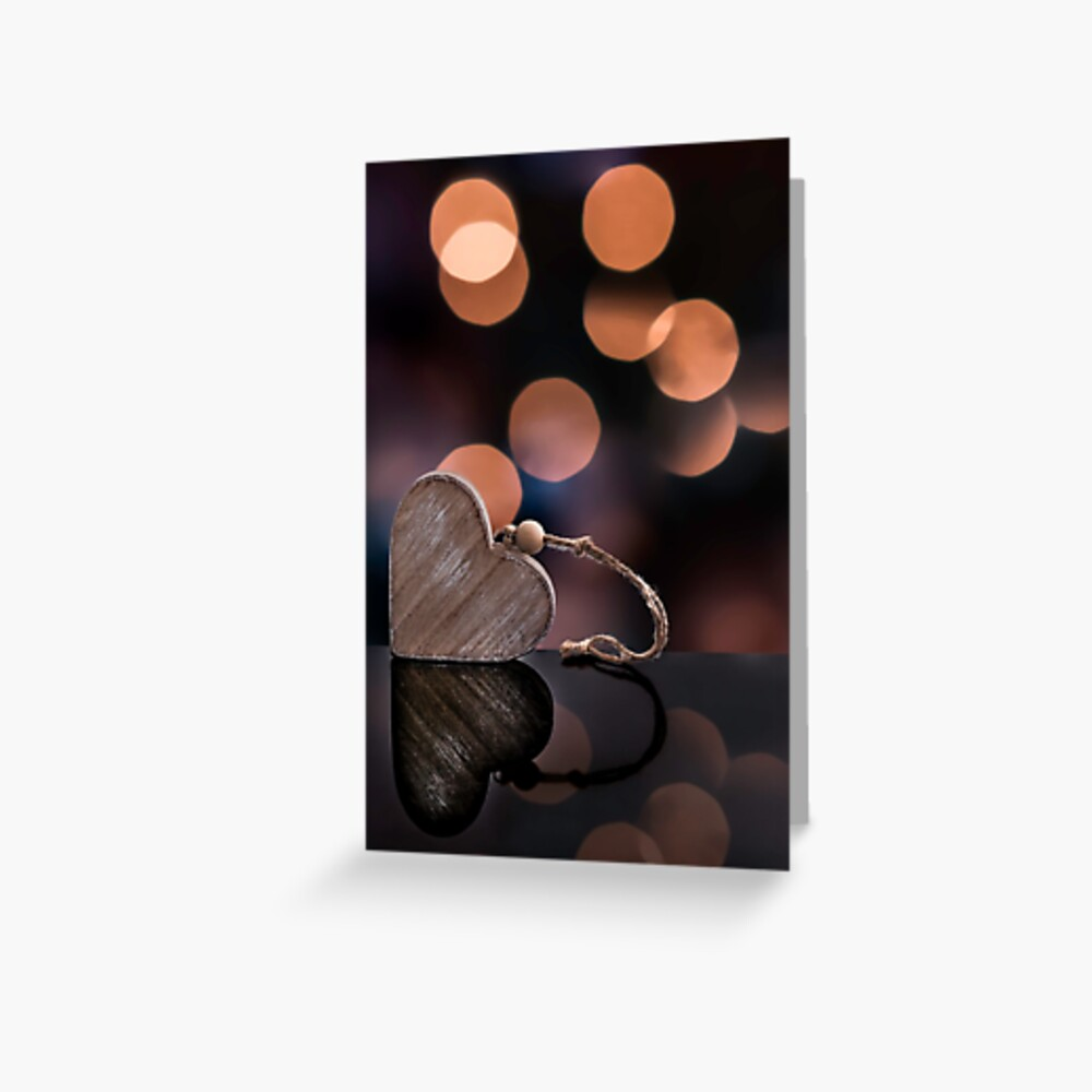 Love heart reflections  Greeting Card