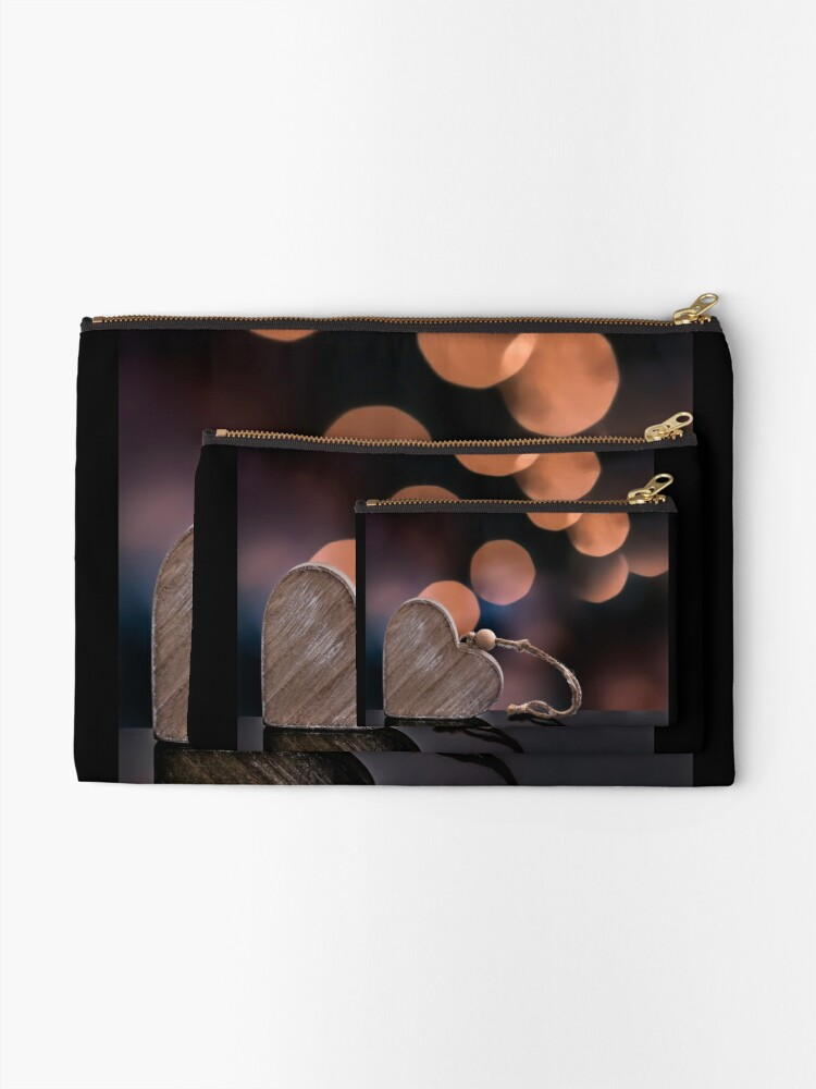 Alternate view of Love heart reflections  Zipper Pouch