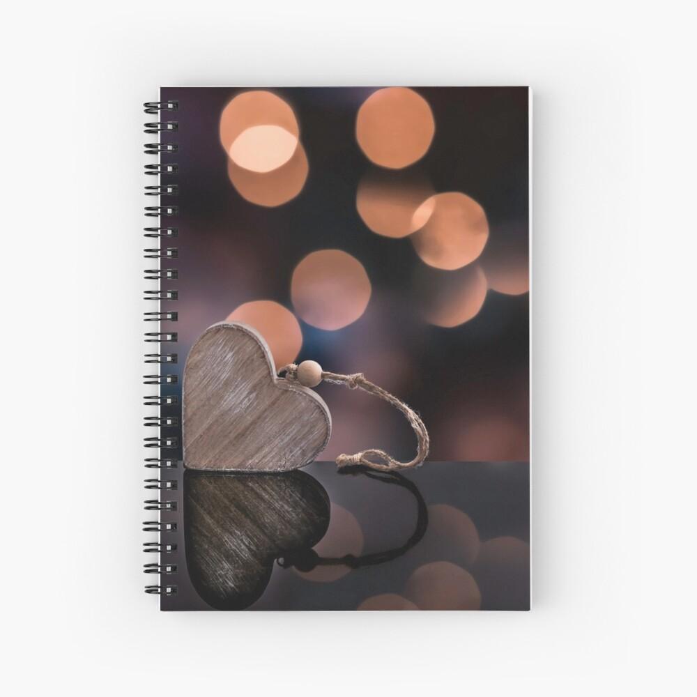 Love heart reflections  Spiral Notebook