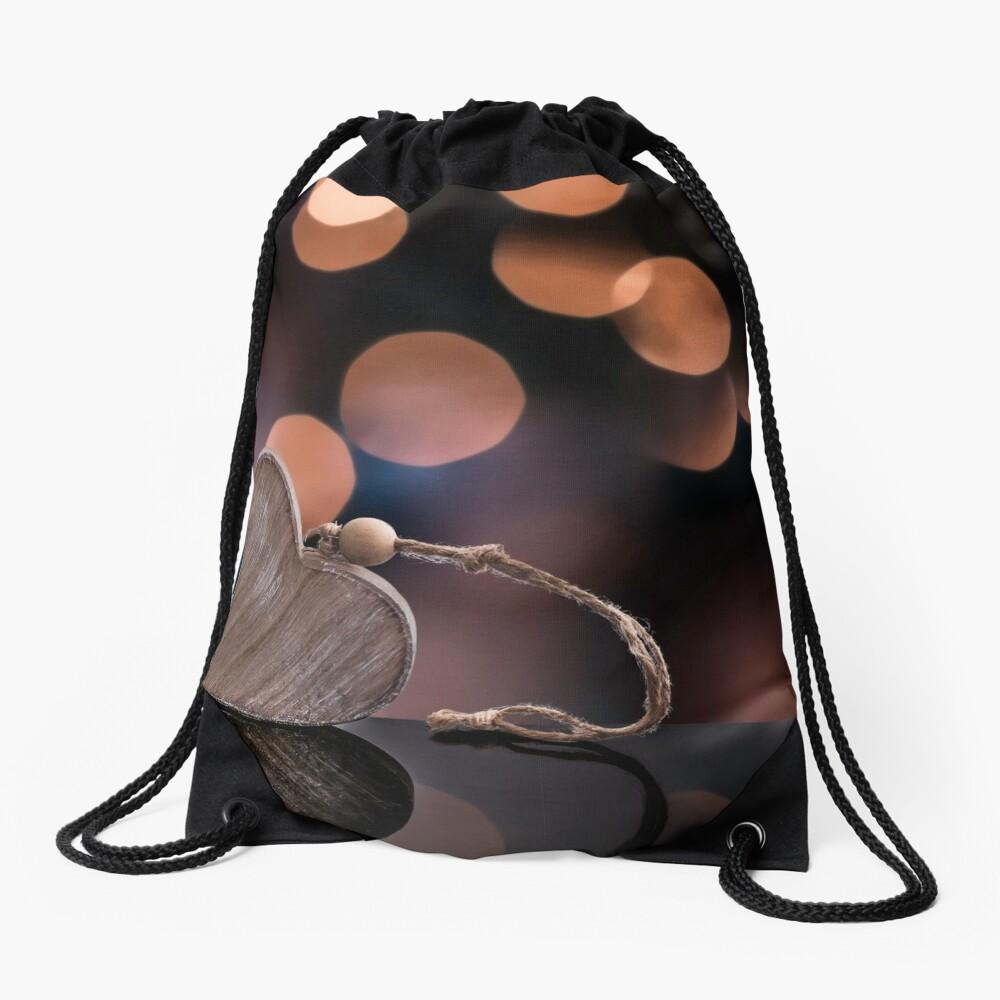 Love heart reflections  Drawstring Bag