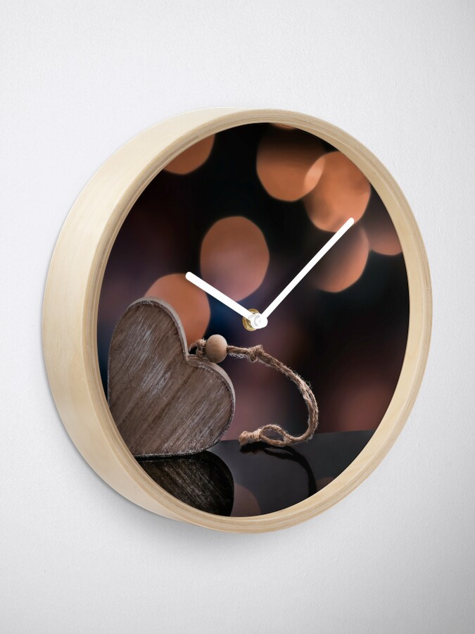 Alternate view of Love heart reflections  Clock