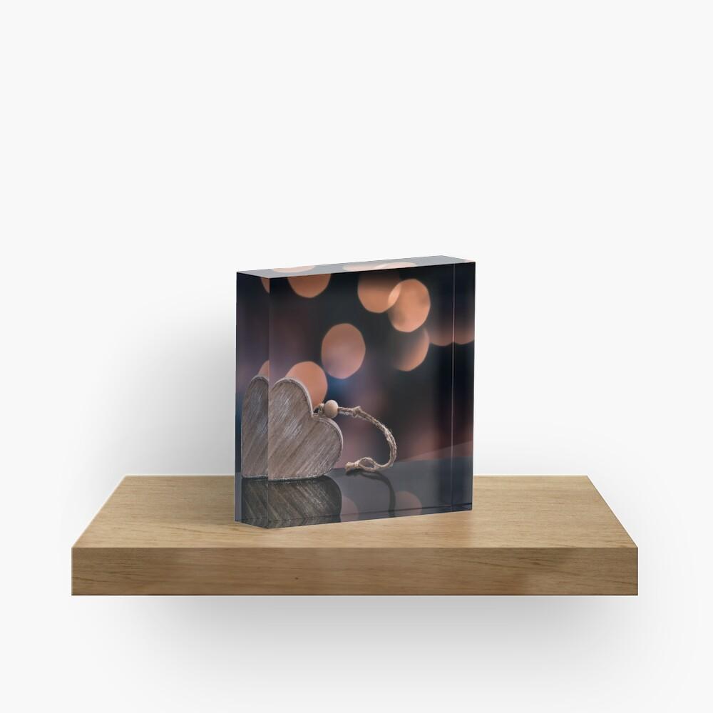 Love heart reflections  Acrylic Block