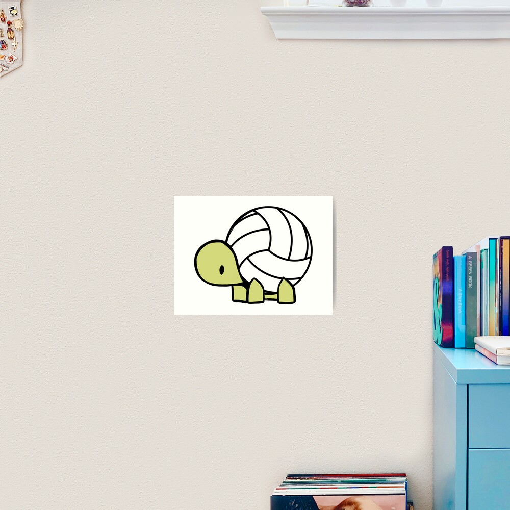 Turtle Volleyball Reptile Lover Gift Art Print