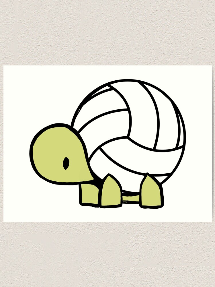 Alternate view of Turtle Volleyball Reptile Lover Gift Art Print