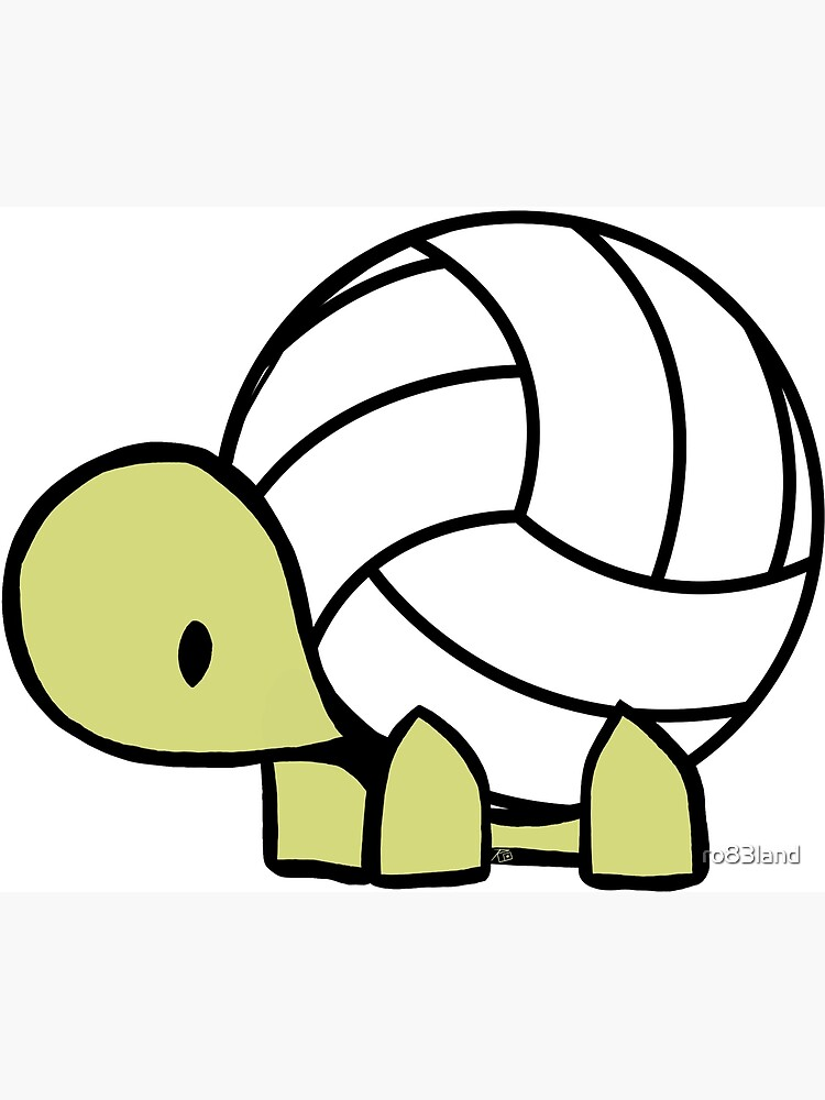 Turtle Volleyball Reptile Lover Gift by ro83land