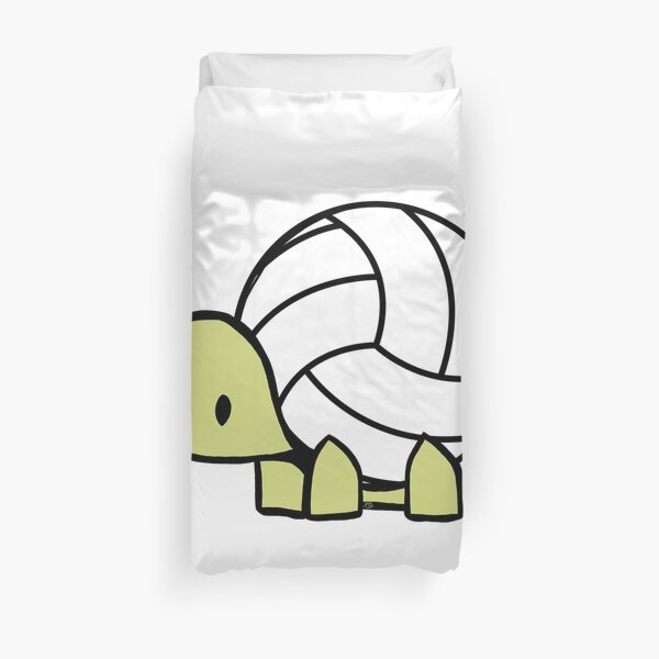 Turtle Volleyball Reptile Lover Gift Duvet Cover