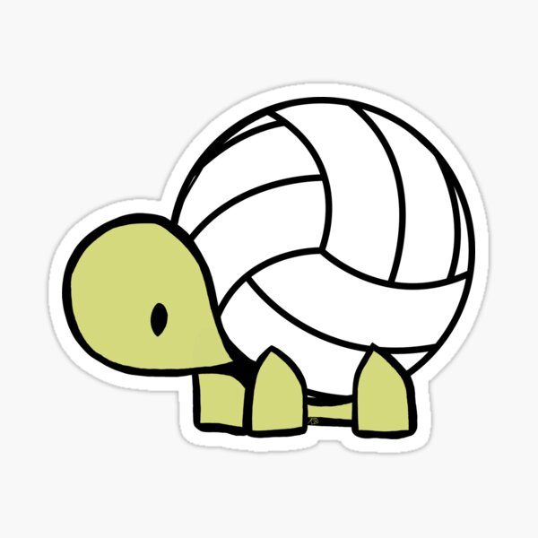 Turtle Volleyball Reptile Lover Gift Sticker