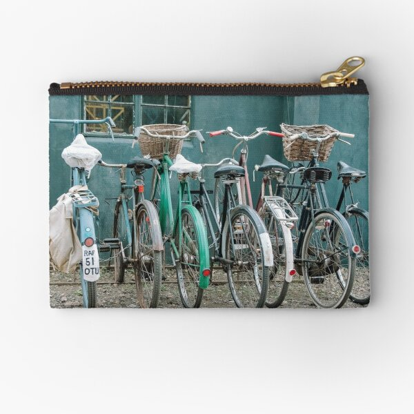Vintage bicycles Zipper Pouch