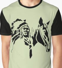 Indian with horse Graphic T-Shirt