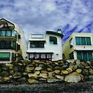 Beach Houses - Or A View from the Beach by Rhonda Strickland