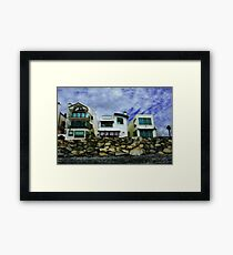 Beach Houses - Or A View from the Beach Framed Print