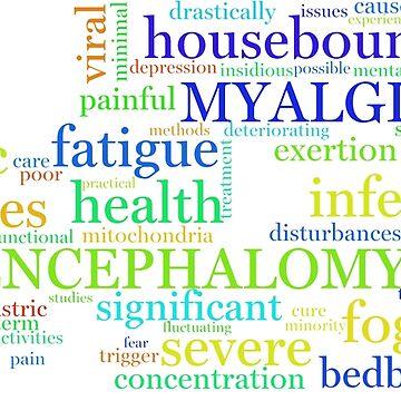 ME/CFS Wordcloud (Colour1) by matomatonuk