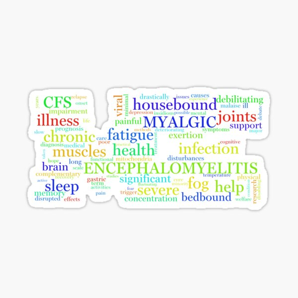 ME/CFS Wordcloud (Colour1) Sticker
