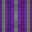 Stripes and Dots, Striped Pattern, Grey Purple  by clipsocallipso