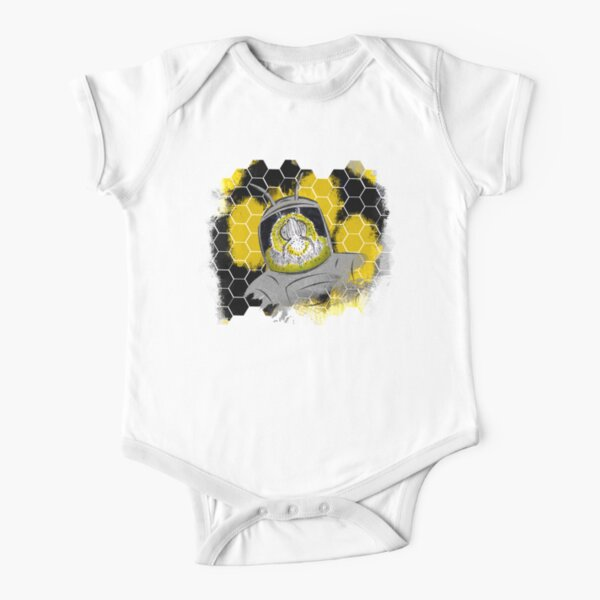Space Bee Short Sleeve Baby One-Piece