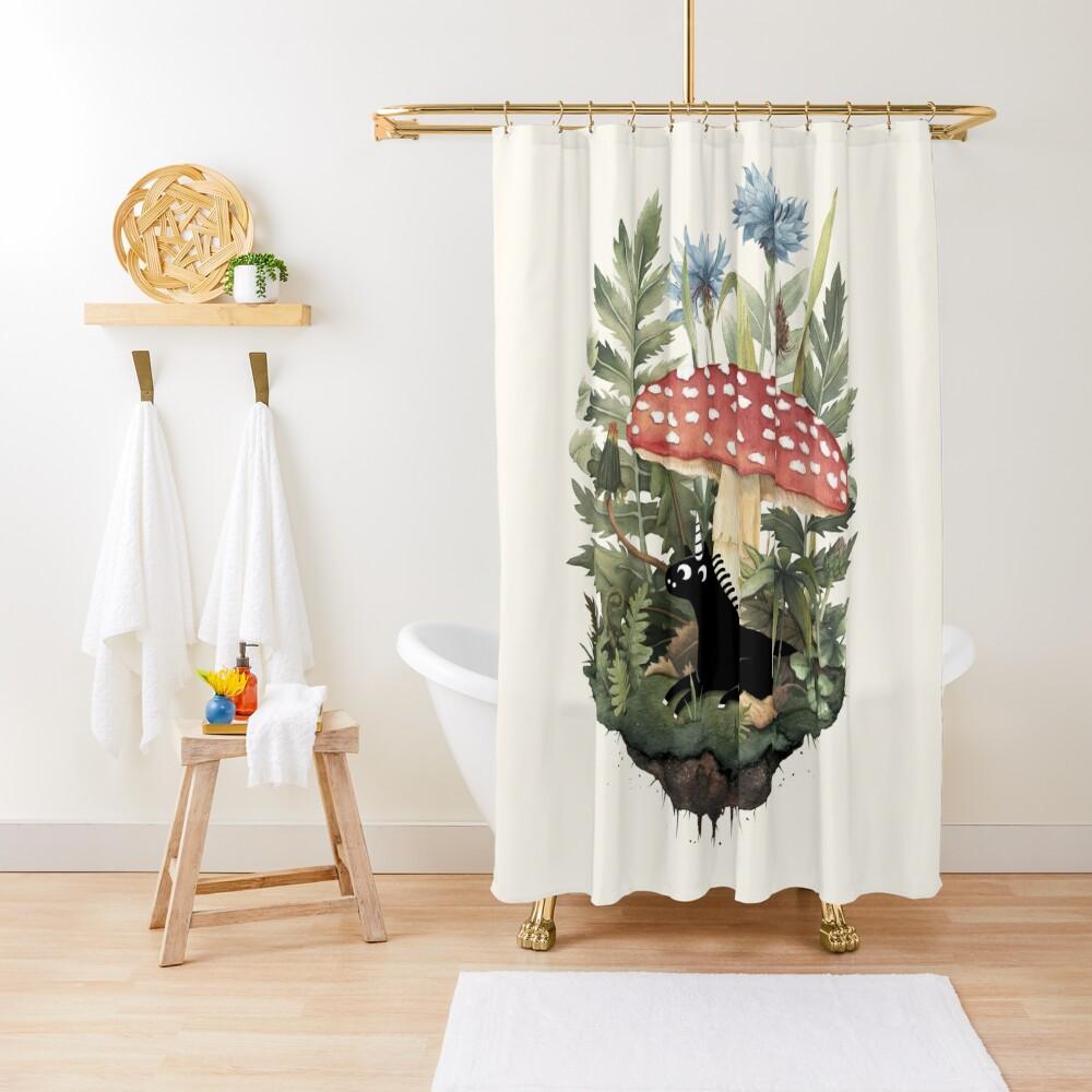 Tiny Unicorn Shower Curtain