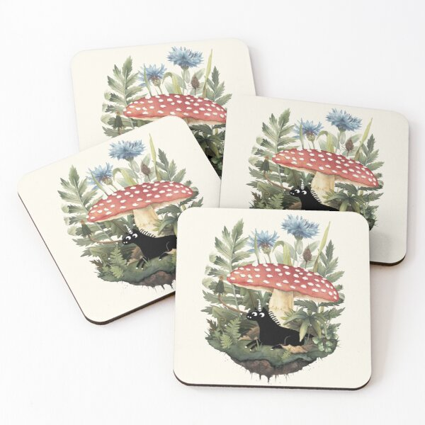 Tiny Unicorn Coasters (Set of 4)