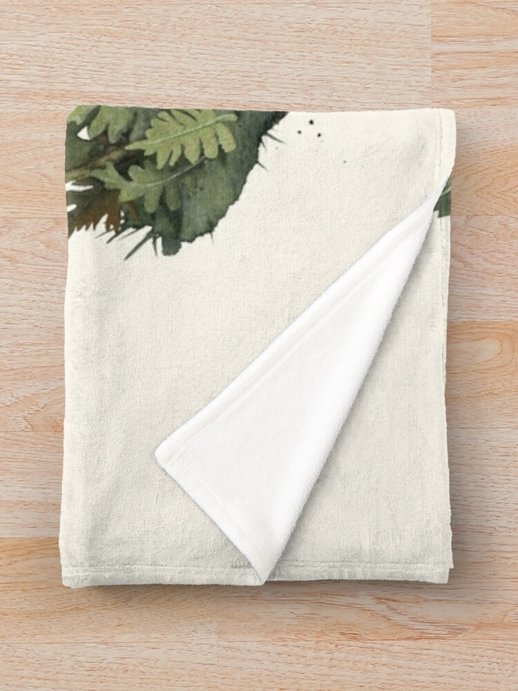 Alternate view of Tiny Unicorn Throw Blanket