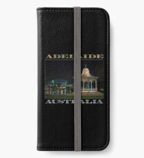 Illuminated Elegance (poster on black) iPhone Wallet/Case/Skin