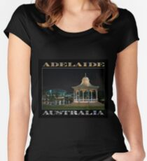 Illuminated Elegance (poster on black) Women's Fitted Scoop T-Shirt