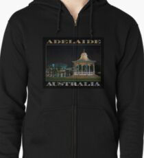 Illuminated Elegance (poster on black) Zipped Hoodie