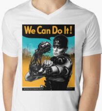 We Can Do It (Furiously) - light colors Men's V-Neck T-Shirt