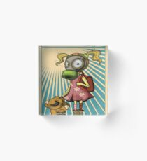 Fight Pollution Rise Against Pollution Polluted World Acrylic Block