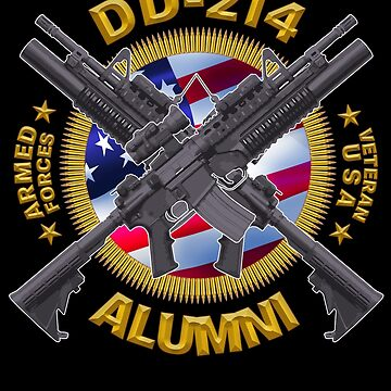 DD-214 Alumni -  Veteran USA Military Armed Forces Gifts by vince58