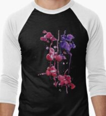 Dripping Orchids Men's Baseball ¾ T-Shirt