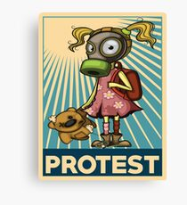 Protest Fight Pollution Rise Against Pollution Polluted World Canvas Print