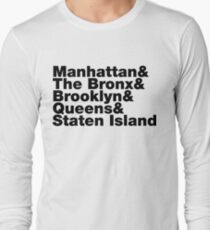 Five Boroughs ~ New York City Long Sleeve T-Shirt