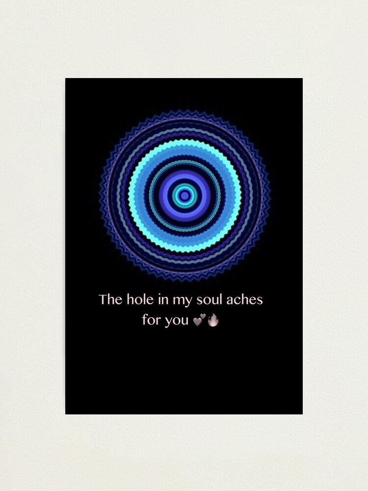 Alternate view of The hole in my heart  Photographic Print