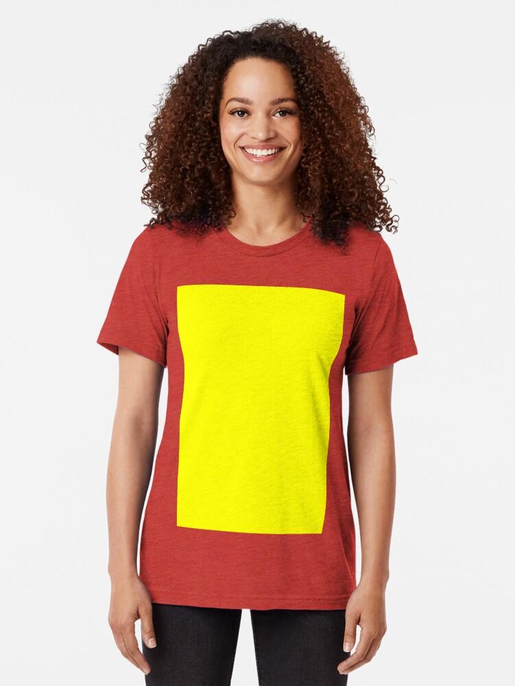 Alternative Ansicht von Helles Gelb Vintage T-Shirt