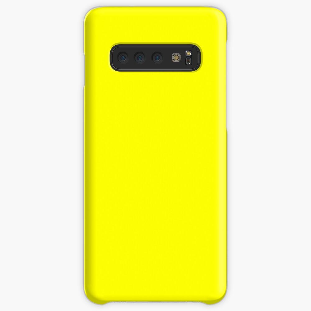 Helles Gelb Hülle & Klebefolie für Samsung Galaxy